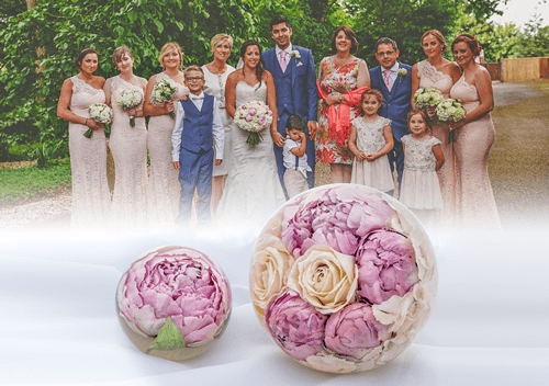 Wedding Flower Preservation Paperweights