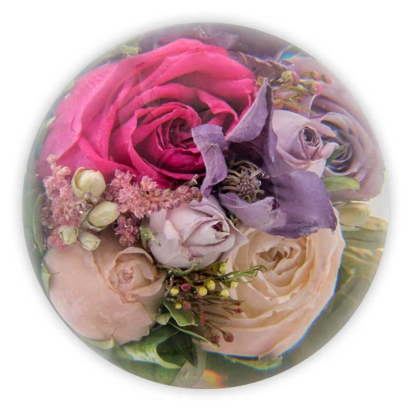 "3.5"" multi flower paperweight"