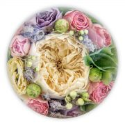 4.5 inch multi flower paperweight