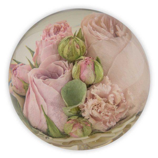 """4.5"""" Anniversary multi flower paperweight"""